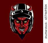 hand drawing of devil wearing... | Shutterstock .eps vector #657469504