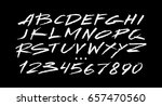 graphic font for your design.... | Shutterstock .eps vector #657470560