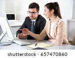 business people working with... | Shutterstock . vector #657470860