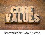 core values  banner     word...   Shutterstock . vector #657475966