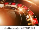 vegas casino roulette game... | Shutterstock . vector #657481174