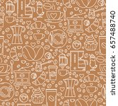 vector seamless pattern with... | Shutterstock .eps vector #657488740