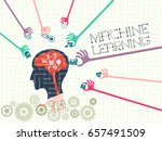 data technology and machine... | Shutterstock .eps vector #657491509