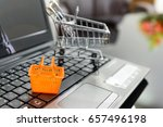 small housewife shopping basket ... | Shutterstock . vector #657496198