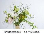 flower bouquet in vase  | Shutterstock . vector #657498856