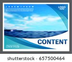 seascape and blue sky... | Shutterstock .eps vector #657500464