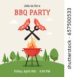 invitation card on the barbecue.... | Shutterstock .eps vector #657500533