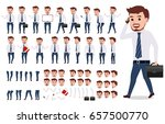 business man character creation ... | Shutterstock .eps vector #657500770