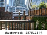 roof top patio with a view of... | Shutterstock . vector #657511549
