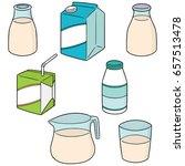 vector set of milk   Shutterstock .eps vector #657513478