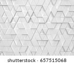 abstract triangle pattern. 3d... | Shutterstock . vector #657515068