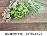 fresh herbs and spices. for... | Shutterstock . vector #657516526