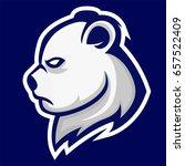 polar bear head mascot logo   Shutterstock .eps vector #657522409