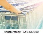 soft women hand take shopping... | Shutterstock . vector #657530650