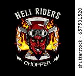 the devil of biker in t shirt... | Shutterstock .eps vector #657531520
