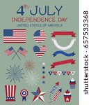 4th of july independence day... | Shutterstock .eps vector #657533368