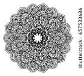 mandalas for coloring book.... | Shutterstock .eps vector #657533686