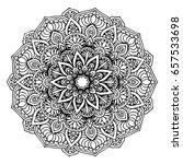 mandalas for coloring book.... | Shutterstock .eps vector #657533698