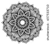 mandalas for coloring book.... | Shutterstock .eps vector #657533710
