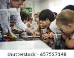 group of diverse kindergarten... | Shutterstock . vector #657537148
