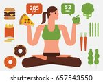 diet illustration | Shutterstock .eps vector #657543550