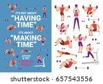 fitness illustrations | Shutterstock .eps vector #657543556