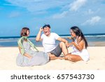 group of multiracial friends... | Shutterstock . vector #657543730