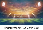 lights at night and stadium 3d... | Shutterstock . vector #657545950