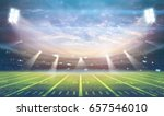 american football stadium 3d... | Shutterstock . vector #657546010