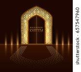 islamic door of the mosque ... | Shutterstock .eps vector #657547960