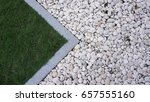 White Gravel Texture With...