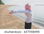 portrait of asian woman wearing ... | Shutterstock . vector #657558490