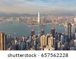 high angle view  hong kong city ... | Shutterstock . vector #657562228