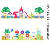 children playground fun... | Shutterstock .eps vector #657562720