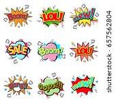 pop art comic speech bubble... | Shutterstock .eps vector #657562804