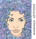 vector illustration of woman...   Shutterstock .eps vector #657573223