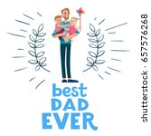 cartoon characters of family.... | Shutterstock .eps vector #657576268