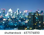 blue twilight night view office ... | Shutterstock . vector #657576850