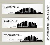 canada cities skylines   vector ... | Shutterstock .eps vector #657581794