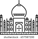 mosque outline icon | Shutterstock .eps vector #657587200