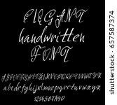 hand drawn elegant calligraphy... | Shutterstock .eps vector #657587374