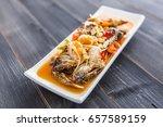 spicy crab papaya salad  sea... | Shutterstock . vector #657589159