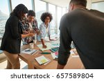 team of young professionals... | Shutterstock . vector #657589804