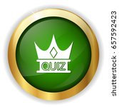 quiz crown icon   Shutterstock .eps vector #657592423