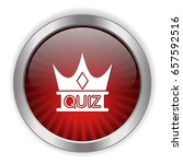quiz crown icon | Shutterstock .eps vector #657592516
