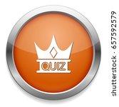 quiz crown icon   Shutterstock .eps vector #657592579
