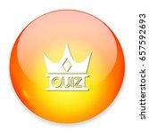 quiz crown icon | Shutterstock .eps vector #657592693