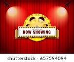 theater sign film roll on... | Shutterstock .eps vector #657594094