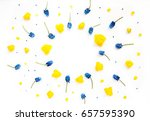 flowers composition. card with... | Shutterstock . vector #657595390