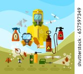 pest control services insects... | Shutterstock .eps vector #657597349